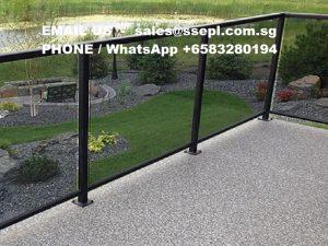Acrylic fence panels